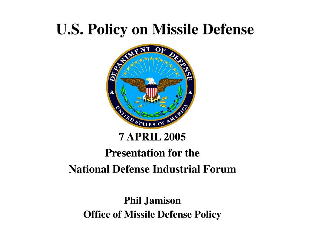 u s policy on missile defense l.