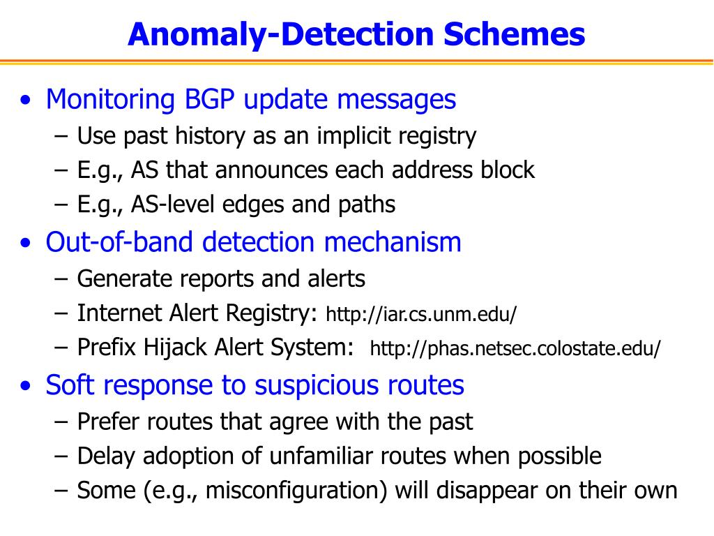 Anomaly-Detection Schemes
