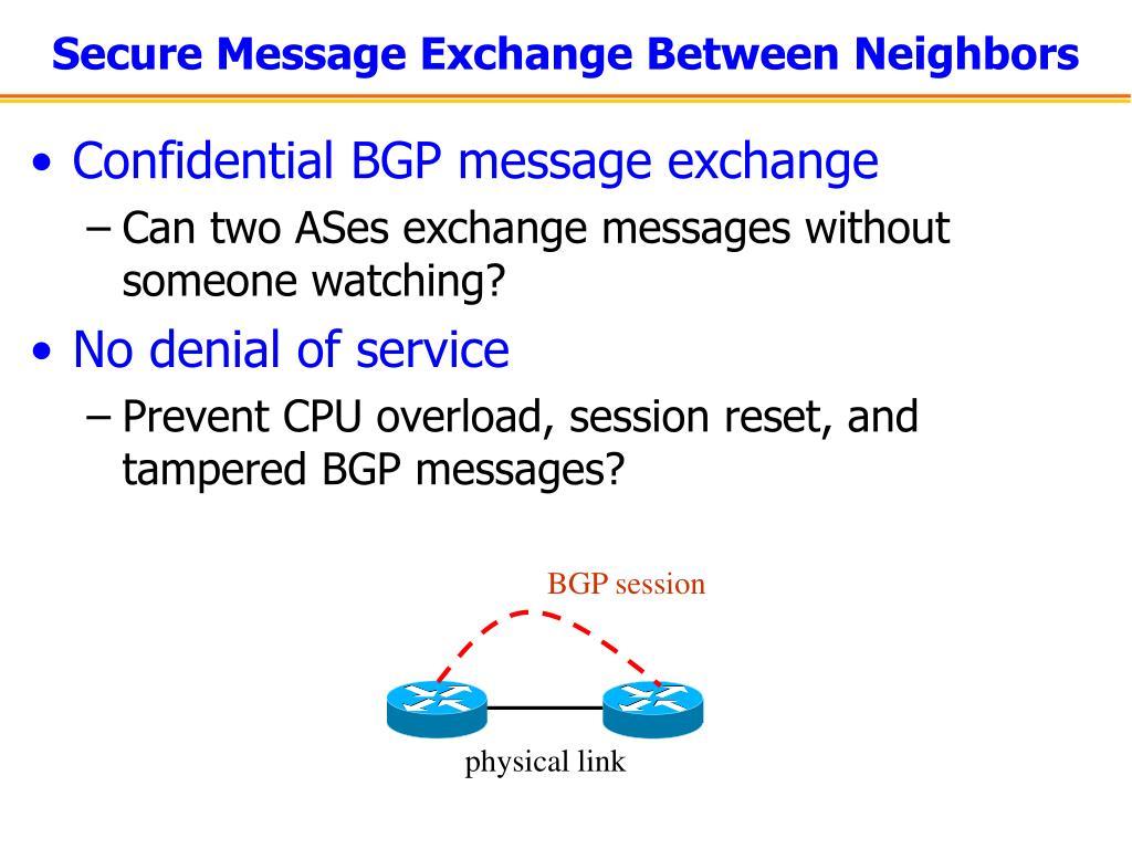 BGP session