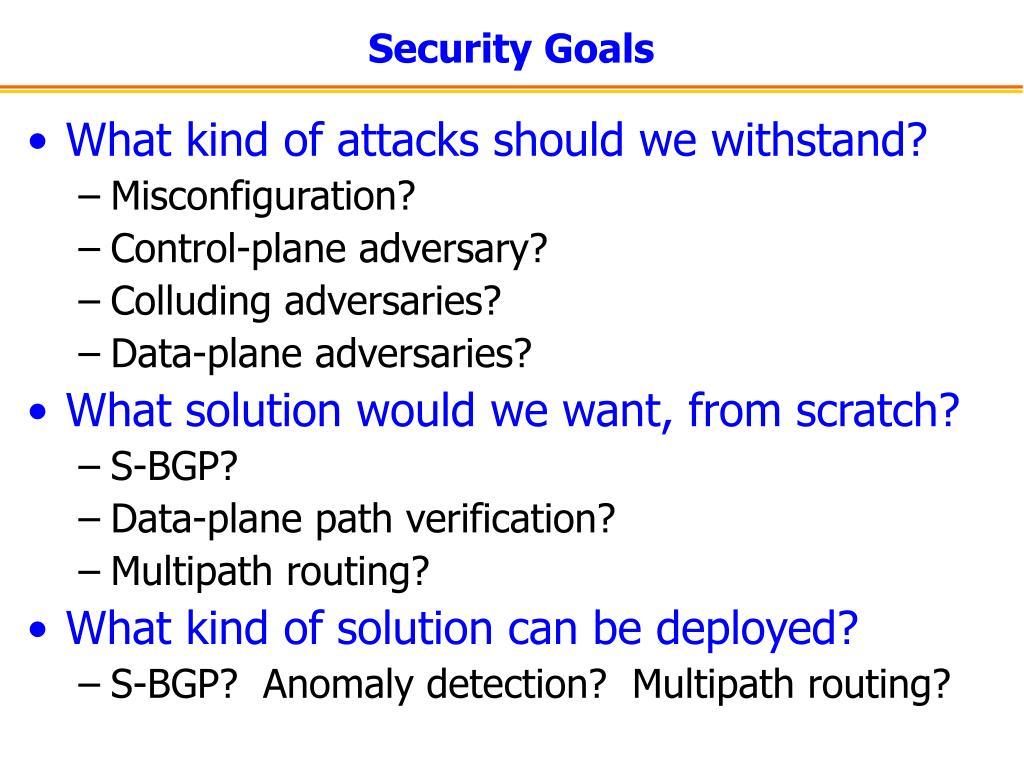 Security Goals