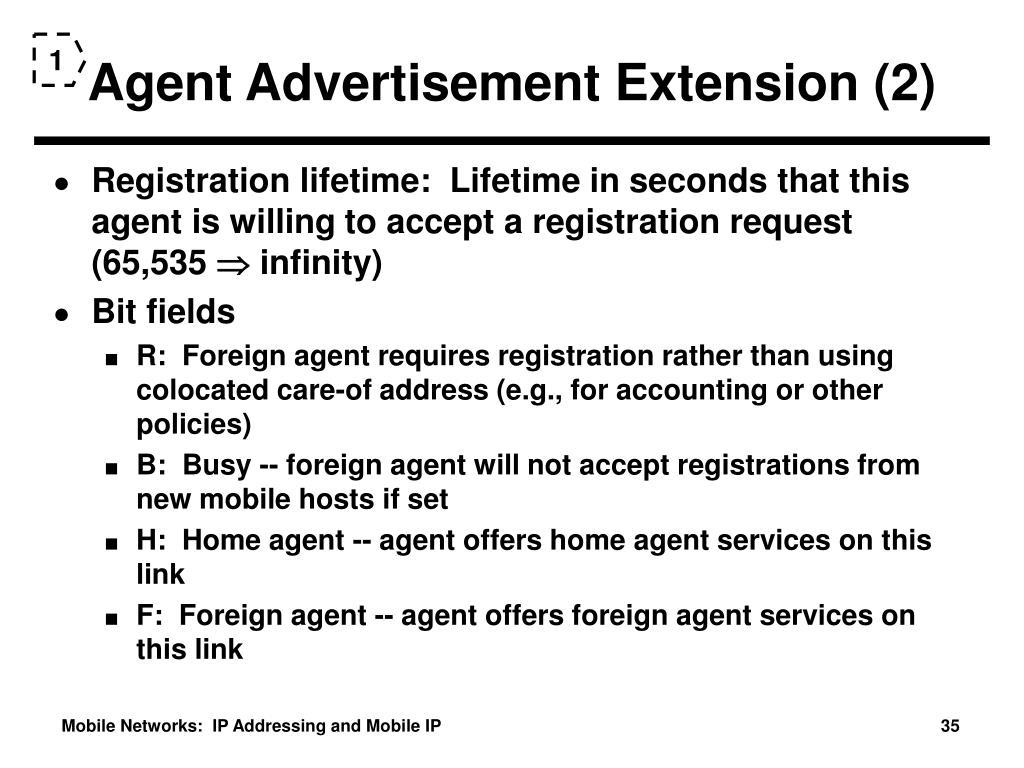 Agent Advertisement Extension (2)
