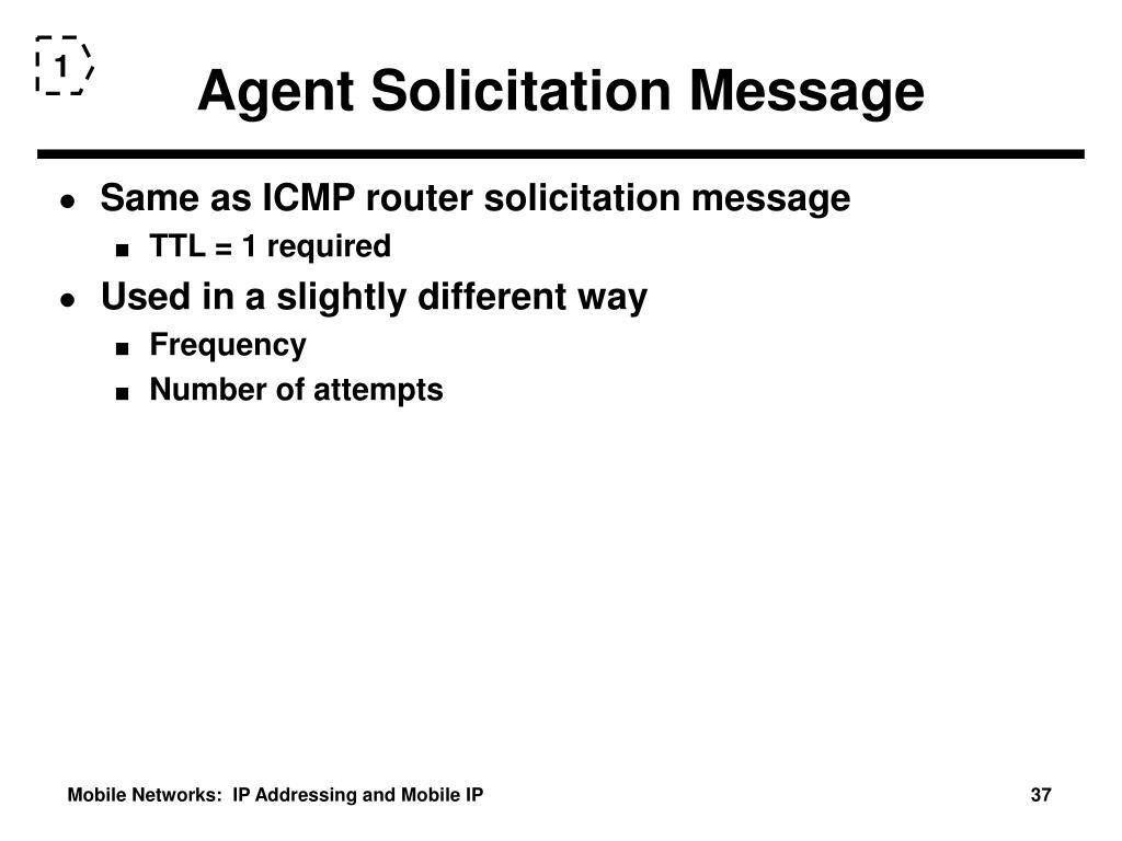 Agent Solicitation Message