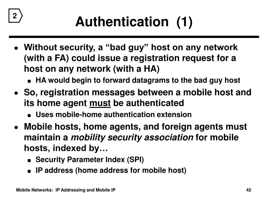 Authentication  (1)