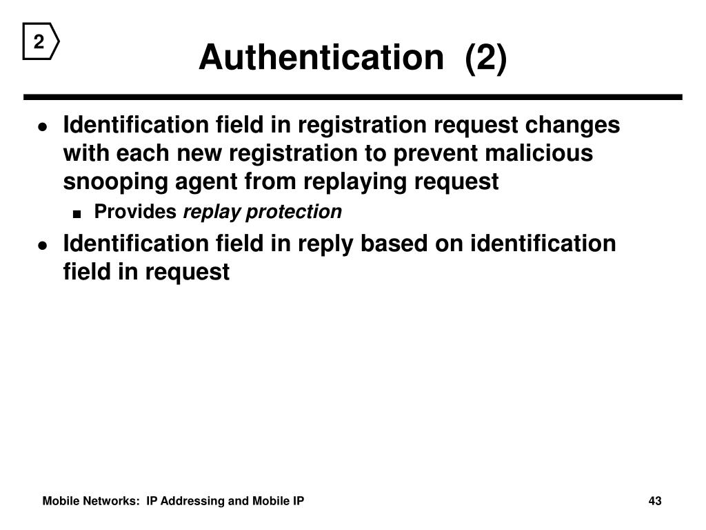 Authentication  (2)