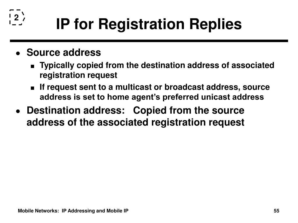 IP for Registration Replies