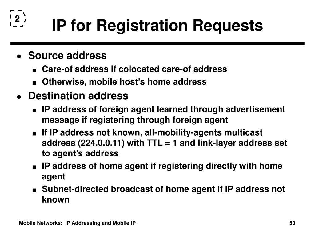 IP for Registration Requests