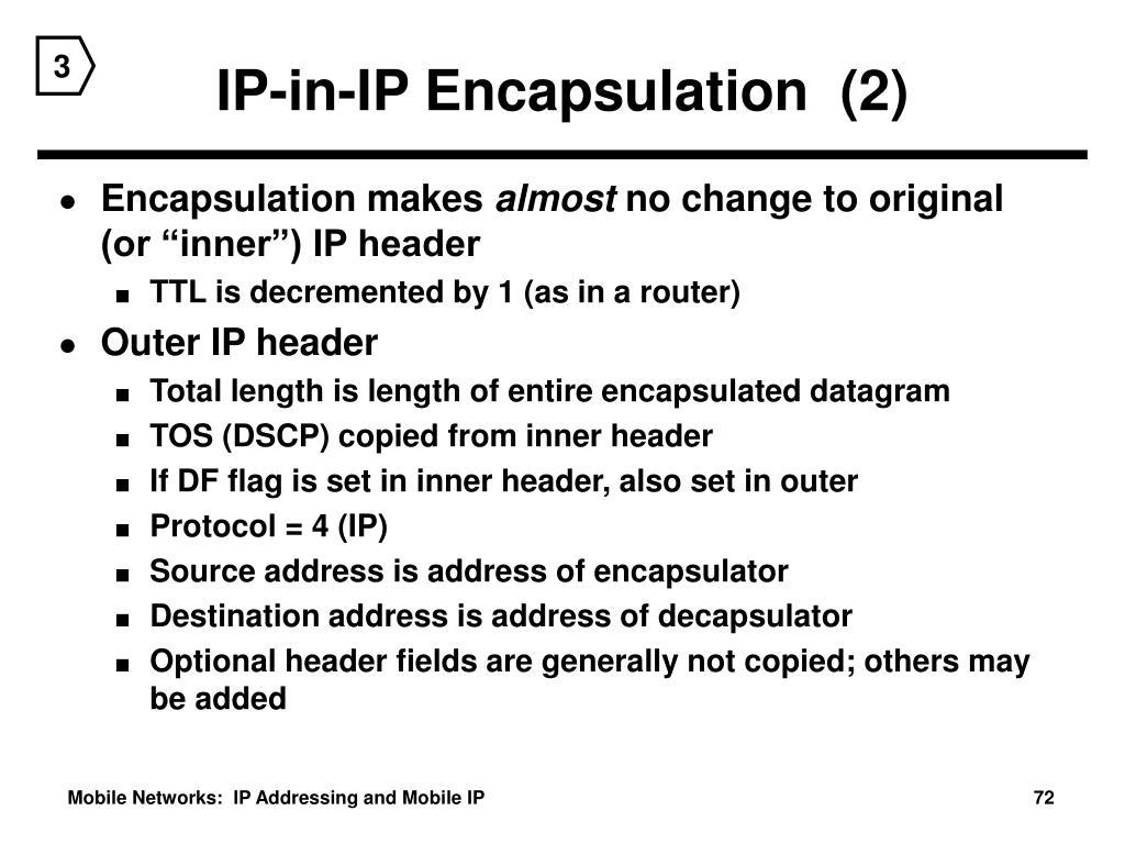IP-in-IP Encapsulation  (2)