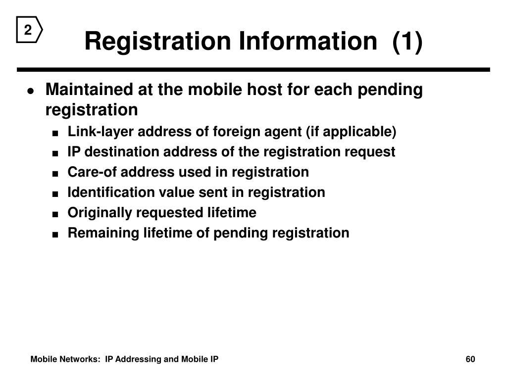 Registration Information  (1)