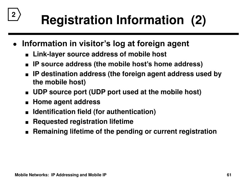 Registration Information  (2)