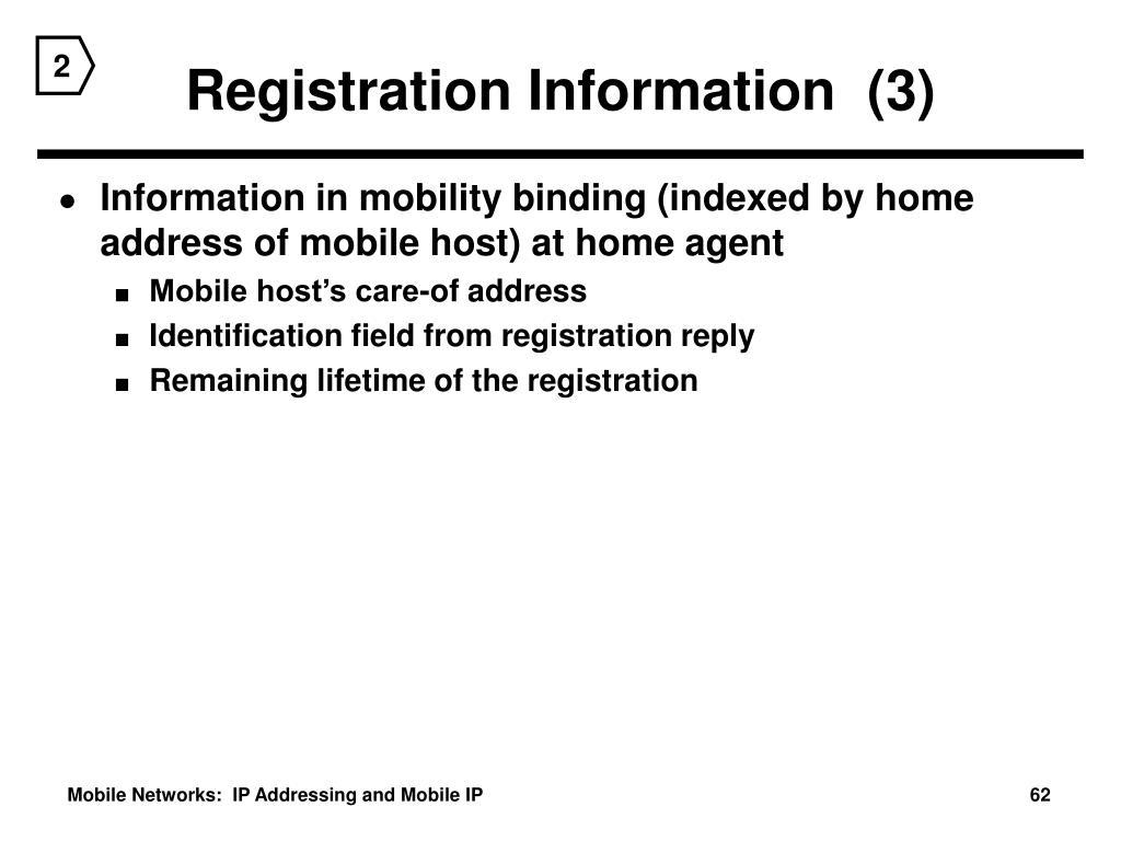 Registration Information  (3)