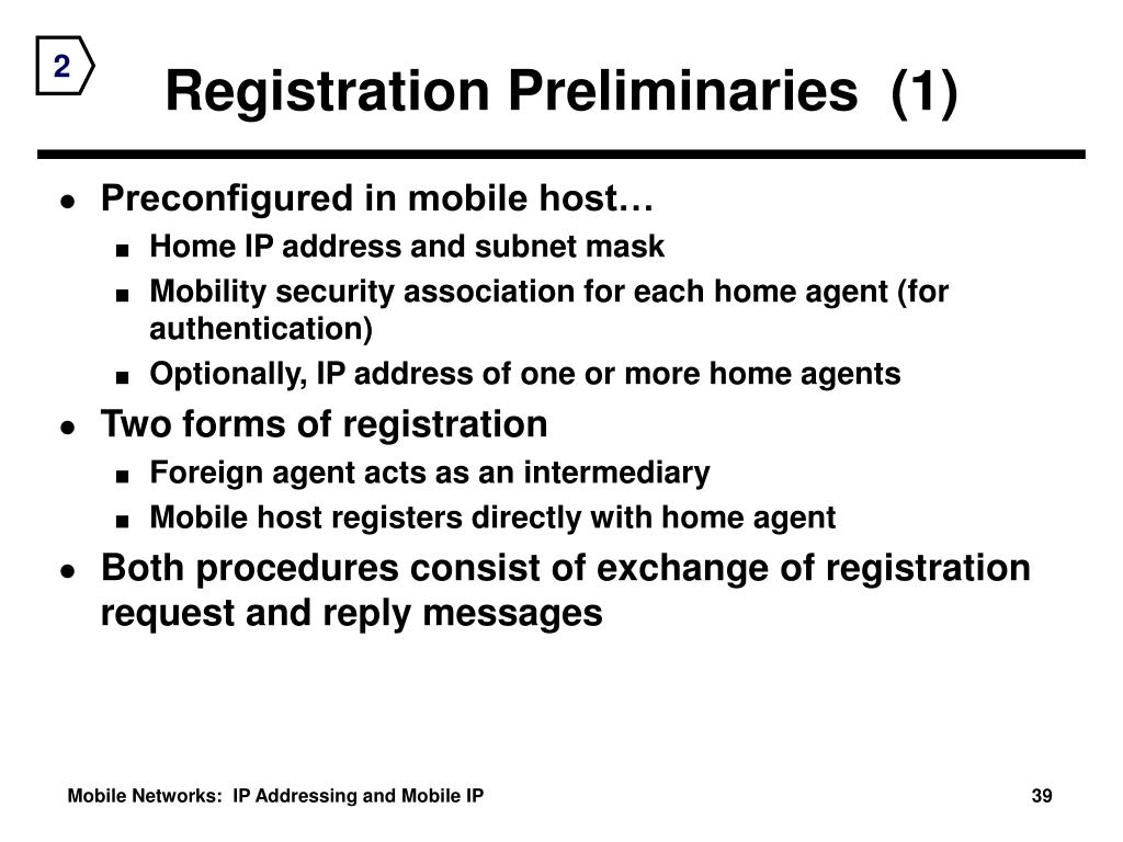 Registration Preliminaries  (1)