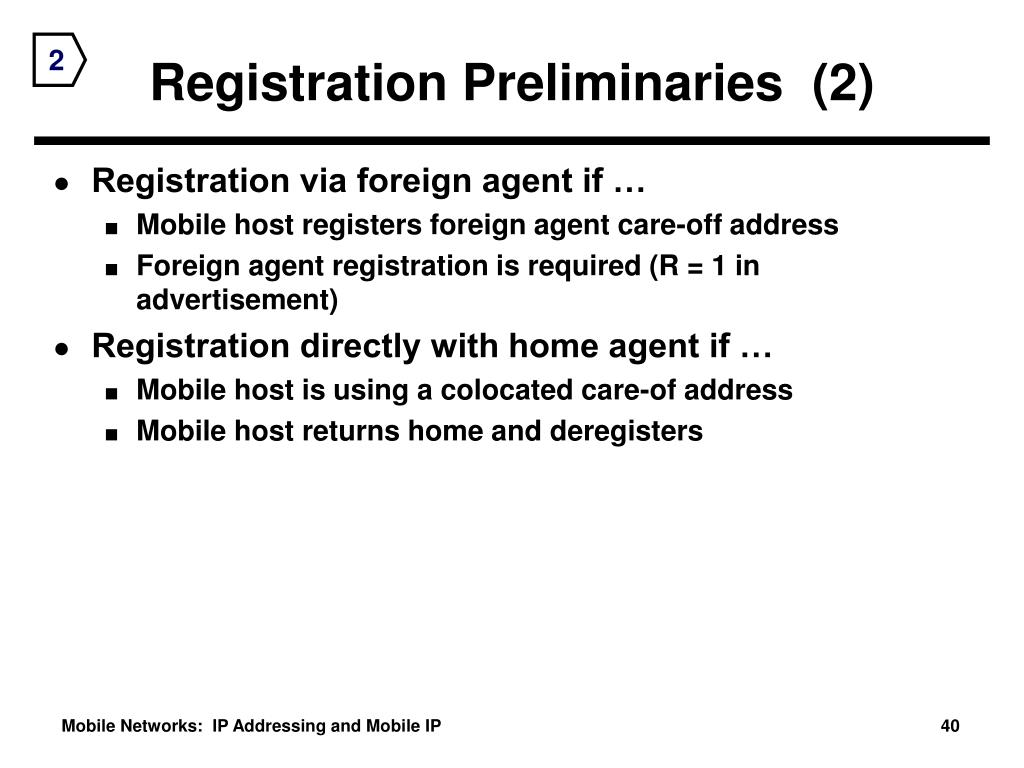 Registration Preliminaries  (2)