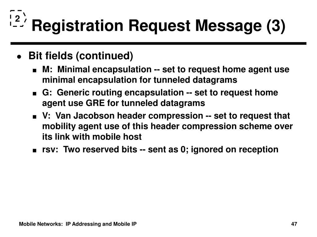 Registration Request Message (3)