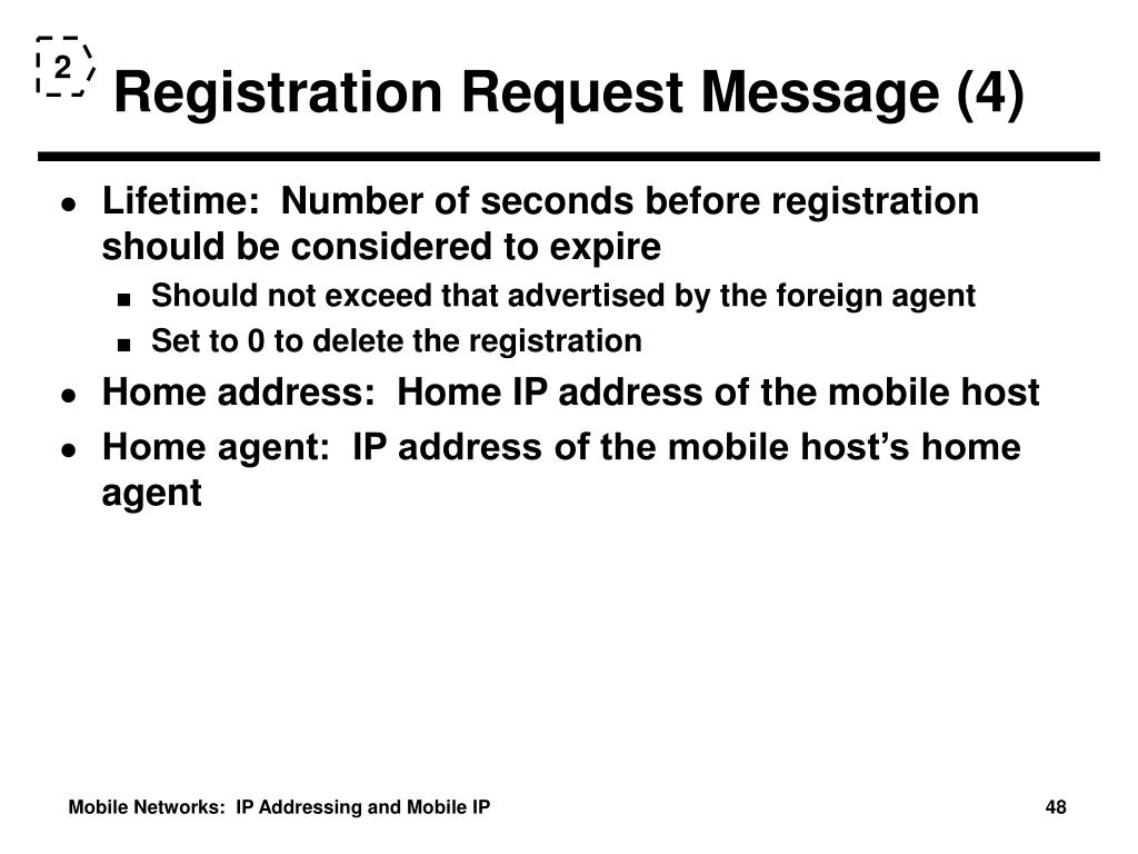 Registration Request Message (4)