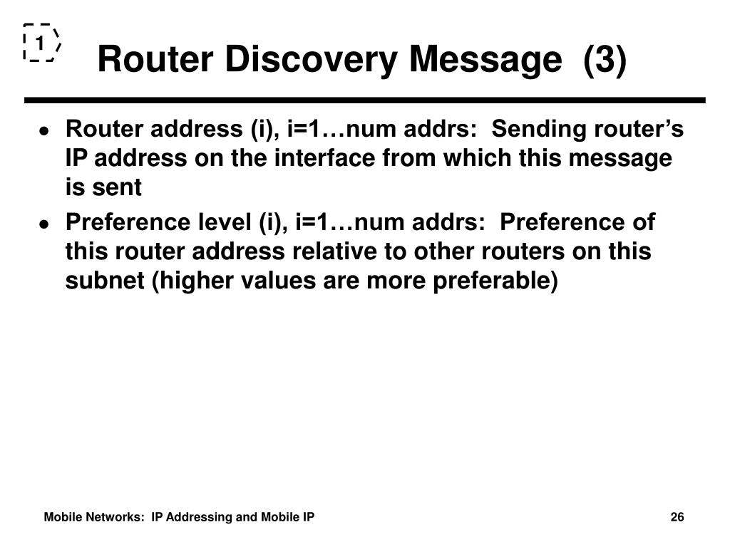 Router Discovery Message  (3)