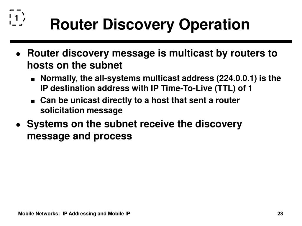 Router Discovery Operation