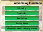 advertising functions