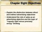 chapter eight objectives3