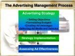 the advertising management process