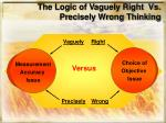 the logic of vaguely right vs precisely wrong thinking