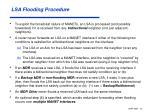 lsa flooding procedure