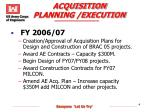 acquisition planning execution