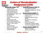 centers of standardization realignment cos