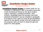 installation design guides