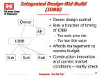integrated design bid build idbb