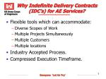 why indefinite delivery contracts idc s for ae services