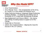 why the model rfp