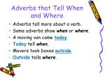 adverbs that tell when and where83