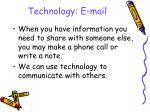 technology e mail