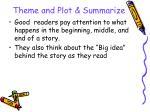 theme and plot summarize