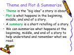 theme and plot summarize32