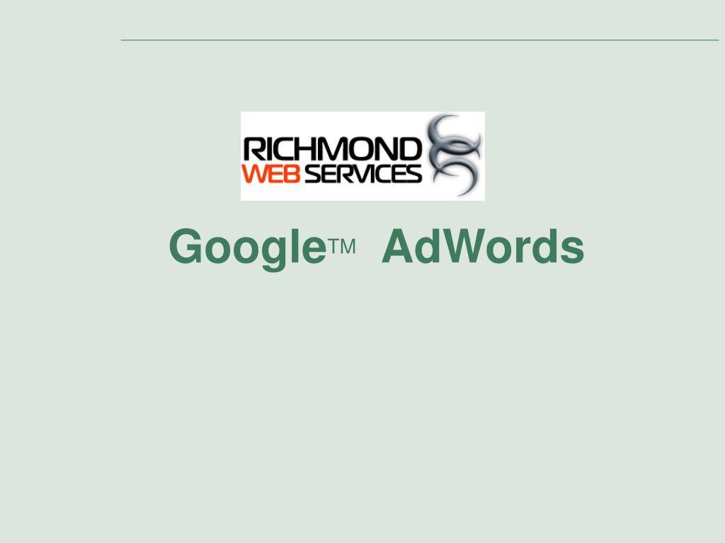 google tm adwords l.