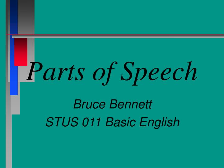 parts of speech n.