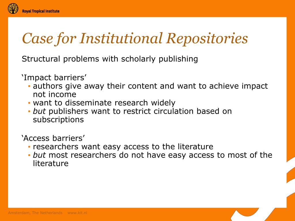 Case for Institutional Repositories