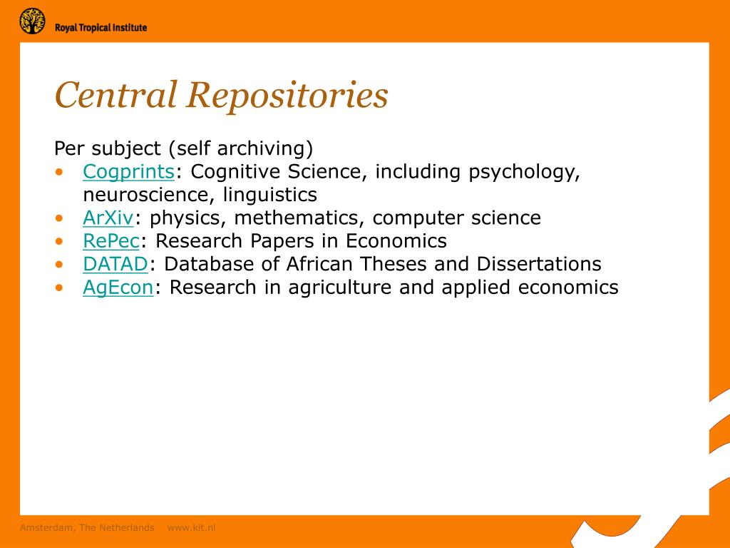 Central Repositories