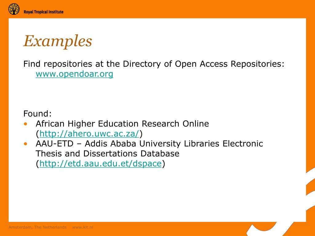 aau.edu.et electronic thesis The etd collection contains electronic theses and dissertations published primarily from 2011 (the point at which electronic submission became mandatory) to the present.