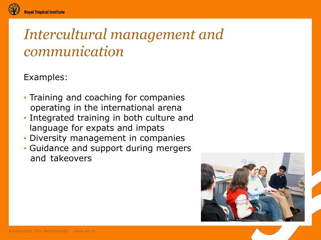 Intercultural management and communication