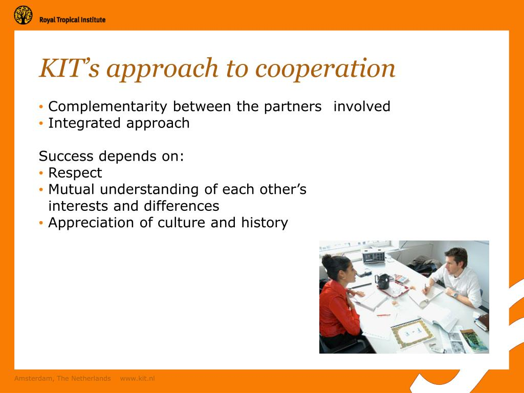 KIT's approach to cooperation