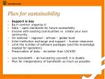 plan for sustainability