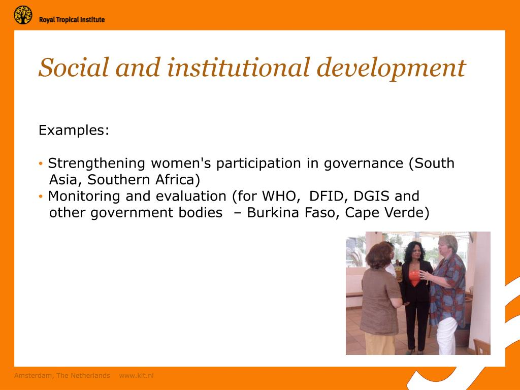 Social and institutional development