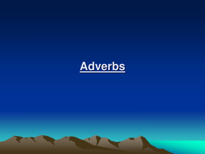 adverbs n.