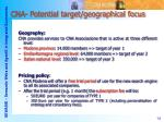 cna potential target geographical focus