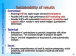 sustainability of results34