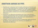 objetivos gerais do pipe