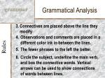 grammatical analysis9