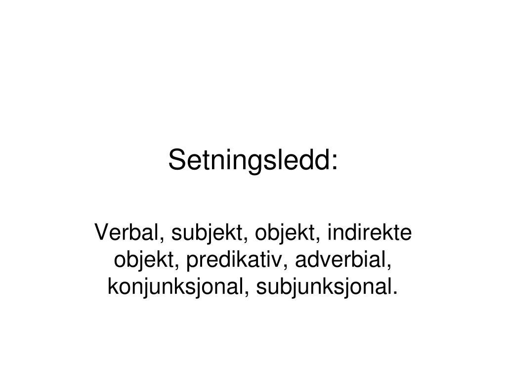 setningsledd l.